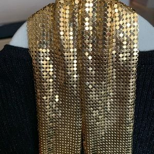 Jewelry - Woven gold mesh scarf/ necklace
